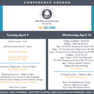36 ANNUAL PORTS ASSOCIATION OF LOUISIANA CONFERENCE